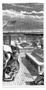 Steamships: Deck, 1870 Beach Towel