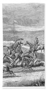 Steeplechase, 1863 Beach Towel