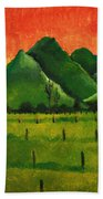 Stellenbosch Mountain Beach Towel