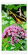 Stencilled Butterfly Beach Towel