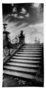 Steps At Chateau Vieux Beach Towel by Simon Marsden