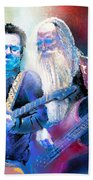 Steve Lukather And Leland Sklar From Toto 02 Beach Towel