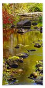 Still Golden Waters Beach Towel