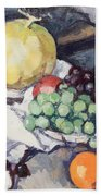 Still Life With Melons And Grapes Beach Towel by Samuel John Peploe