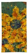 Stimuli Floral - S04ct01 Beach Towel by Variance Collections