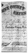 Stock Certificate, 1853 Beach Towel