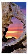 Stone Lagoon Sunset Redux Beach Towel