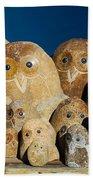 Stone Owls Beach Towel