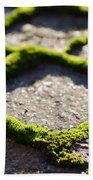 Stone Road With Green Moss Beach Towel