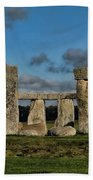 Stonehenge Beach Towel by Heather Applegate
