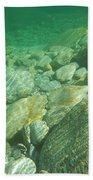 Stones Under The Water Beach Towel