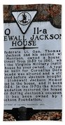 Stonewall Jackson House Beach Towel by Todd Hostetter