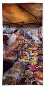 Storefront - The Open Air Tea And Spice Market  Beach Towel