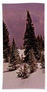 Storm Clouds Over The Monte Cristo Summit Beach Towel