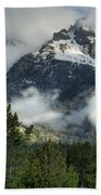 Storm  In The Tetons Beach Towel