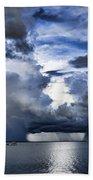 Storm Over The Ocean Beach Towel