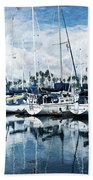 Stormy Blues Beach Towel