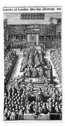 Strafford Trial, 1641 Beach Towel