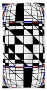 Strapped Abstract  Beach Towel
