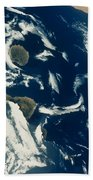 Stratus Cloud Formations Over Canary Beach Towel by Nasa