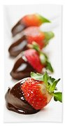Strawberries Dipped In Chocolate Beach Towel