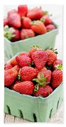 Strawberries Beach Towel