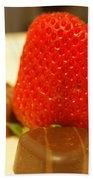 Strawberry And Chocolate Beach Towel