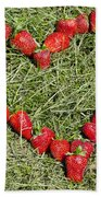Strawberry Heart Beach Towel