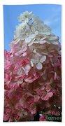 Strawberry Vanilla Hydrangea Beach Towel