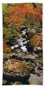 Stream Near Glengariff, Co Cork, Ireland Beach Towel