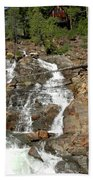 Streaming Glen Alpine Falls Beach Towel