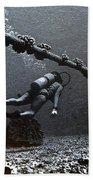 Submarine Telephone Cable And Diver - Hanauma Bay 1973 Beach Towel