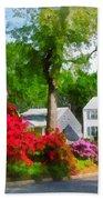 Suburban Azalea Garden Beach Sheet