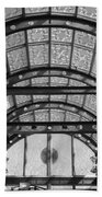 Subway Glass Station In Black And White Beach Towel