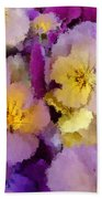 Sugared Pansies Beach Towel