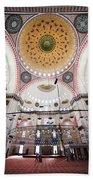 Suleymaniye Mosque Interior Beach Towel