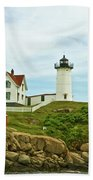 Summer Afternoon At Nubble Light Beach Towel