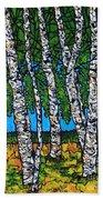 Summer Birches Beach Towel