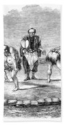 Sumo Wrestling, 1853 Beach Towel