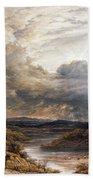 Sun Behind Clouds Beach Towel by John Linnell