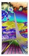 Sun Dial Bridge Redding Ca   Beach Towel