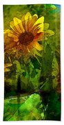 Sunflower 4 Beach Towel