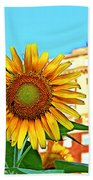 Sunflower In The City Beach Towel