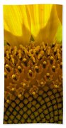 Sunflower Macro Beach Towel