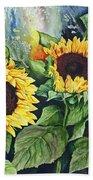 Sunflower Serenade Beach Towel