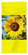 Sunflower Small File Beach Towel
