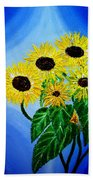 Sunflowers 1 Beach Towel