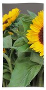 Sunflowers At Pikes Market Beach Towel