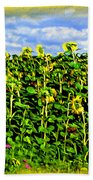 Sunflowers In France Beach Towel