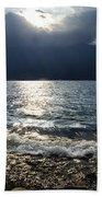 Sunlight And Waves Beach Towel